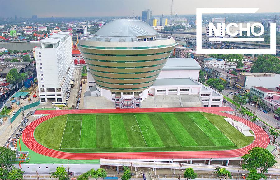 บริษัท ไนโช จำกัด เป็นผู้นำด้านเคมีอุตสาหกรรม งานออกแบบติดตั้ง พื้นสนามกีฬายางสังเคราะห์โพลียูรีเทนยางพารา ฟุตบอล แบดมินตัน บาสเกตบอล ฟุตซอล เทนนิส วอลเลย์บอล ตระกร้อ อเนกประสงค์ สนามเด็กเล่น ห้องฟิตเนส งานพื้นผิวเพื่อความปลอดภัย งานพื้นโรงงานอุตาสาหกรรมและติดตั้งกันซึมดาดฟ้าคุณภาพสูง