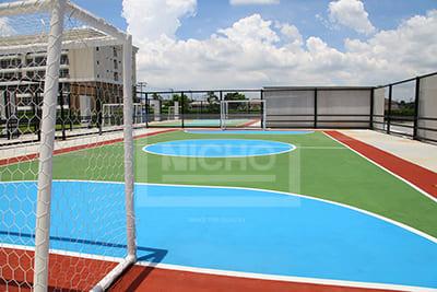 สนามฟุตบอล อะคริลิค โรงเรียน นานาชาติเด่นหล้า - Nicho ไนโซ