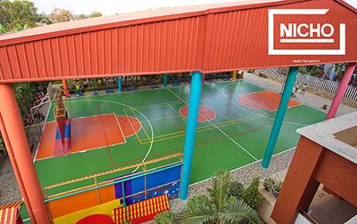 สนามกีฬาอเนกประสงค์ โรงเรียน นานาชาติ มูลตรีภักดี พัทยา - Nicho ไนโซ