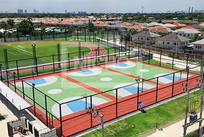 สนามบาสเก็ตบอล อะคริลิค โรงเรียนนานาชาติ เด่นหล้า - Nicho ไนโซ
