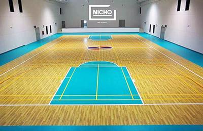 สนามบาสเก็ตบอล PVC โรงเรียนสาธิตแห่งมหาวิทยาลัยรังสิต จังหวัดเชียงใหม่ - Nicho ไนโซ