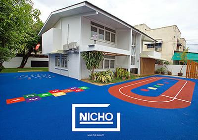 สนามเด็กเล่น พื้นยางนิ่ม EPDM Bernie British International - Nicho ไนโซ