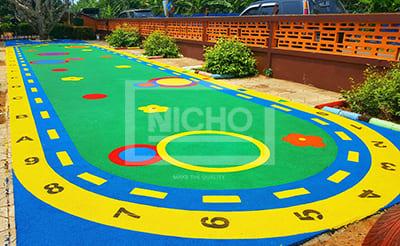 สนามเด็กเล่น พื้นยางนิ่ม EPDM โรงเรียนวัดสิงห์ วรประสิทธิ์วิทยา จันทบุรี - Nicho ไนโซ