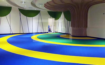สนามเด็กเล่นพื้นยางนิ่ม MK สุกี้ London Street พัฒนาการ - Nicho ไนโซ