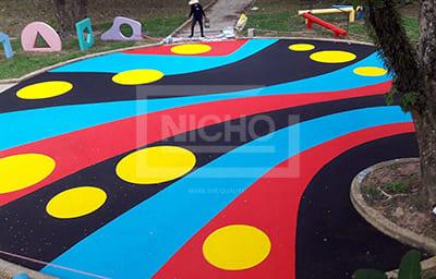 สนามเด็กเล่น พื้นยางนิ่ม EPDM เทศบาลนครหาดใหญ่ จ.สงขลา - Nicho ไนโซ