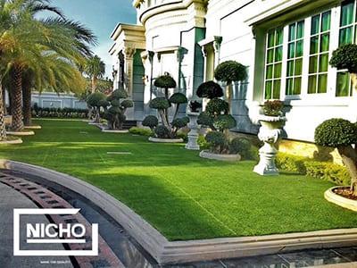 หญ้าเทียมตกแต่ง บ้านมหาชัย - Nicho ไนโซ
