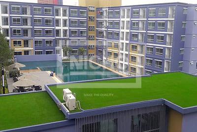 หญ้าเทียมตกแต่ง August condominium เจริญกรุง 80 - Nicho ไนโซ