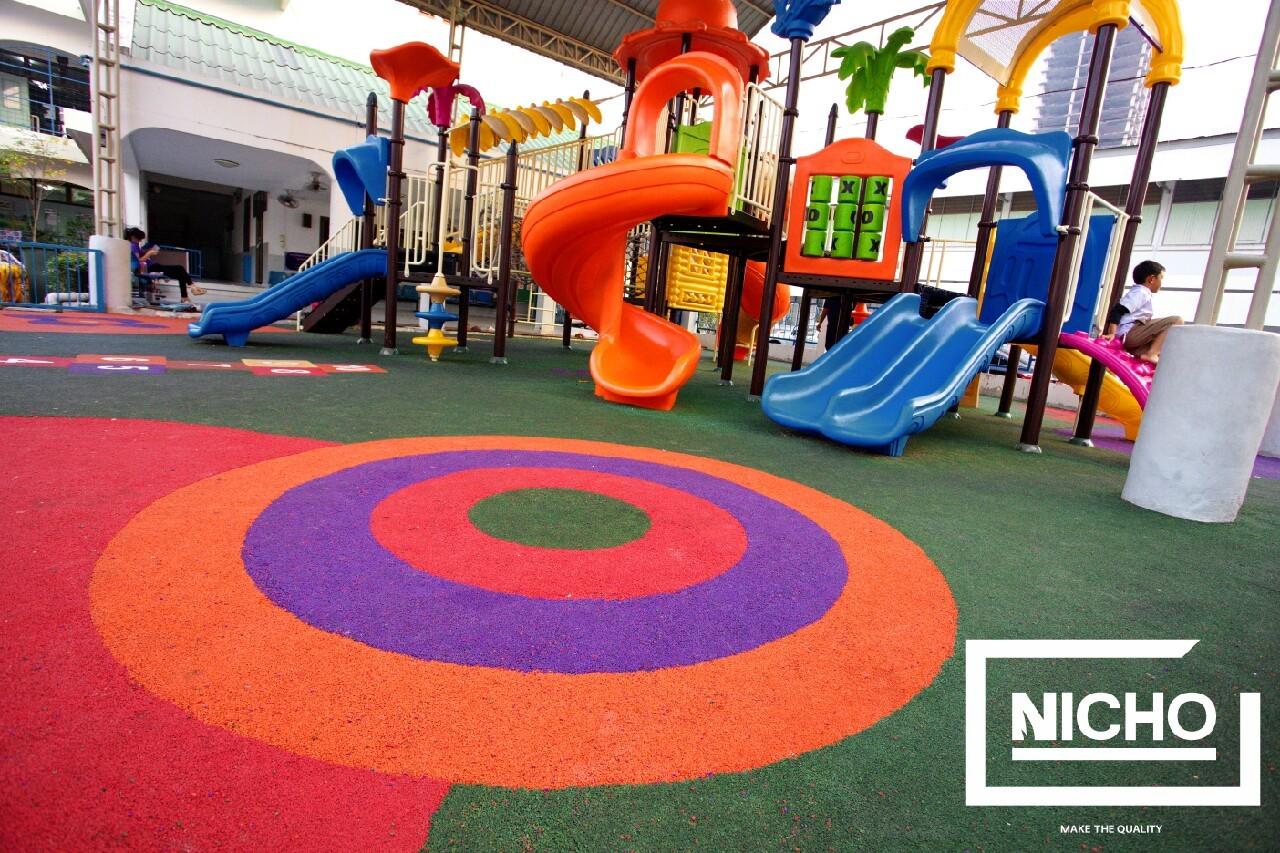 ไนโซ  ผลงานสนามเด็กเล่นพื้นยางนิ่ม EPDM
