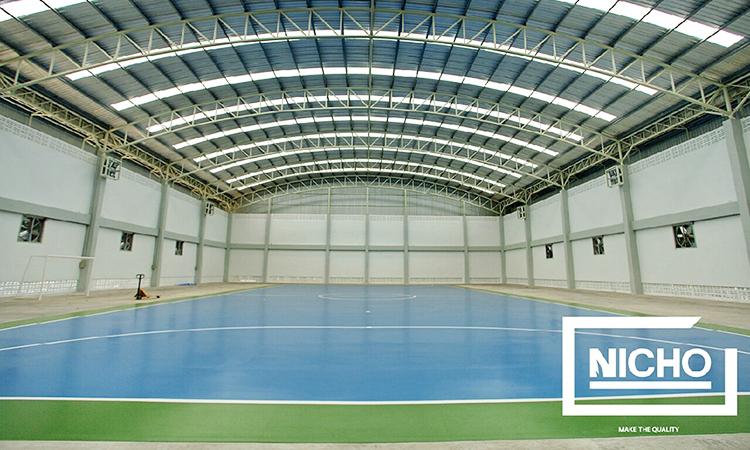 ผลงาน สนามฟุตบอลพื้นยางโพลียูรีเทน (Polyurethane – PU)