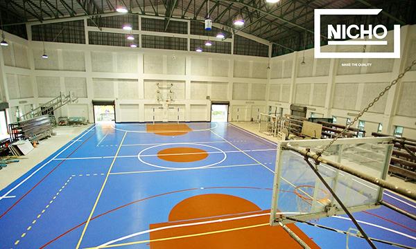 ผลงาน สนามบาสเกตบอลพื้นยางโพลียูรีเทน (Polyurethane – PU)